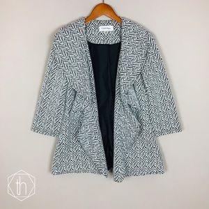 Calvin Klein open front jacket 4 black white
